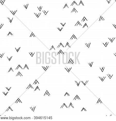 Minimalistic Modern Mountain Peak Pattern. Abstract Triangular Textured Background Design. Vector Il