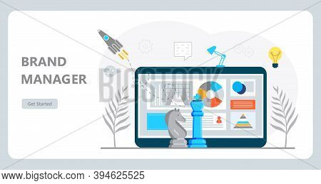 Copywriter Concept Vector For Landing Page. Freelance Workplace Are Busy With Email Marketing Analys