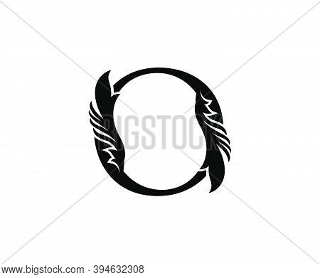 Classic O Letter Logo. Black Floral O With Classy Leaves Shape Design Perfect For Boutique, Jewelry,