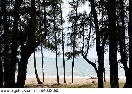 Khao Lak Beach At Phang Nga Province, Thailand. Nang Thong Beach Is Hightlight Of Sea And Sand For T