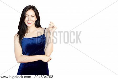 Beautiful Woman Smile Isolated On White Background