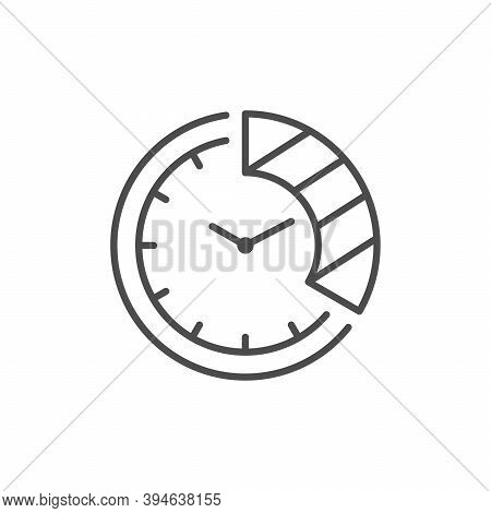 Time Period Line Outline Icon Isolated On White. Vector Illustration