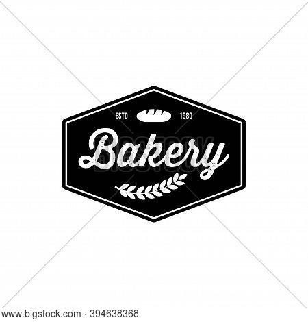 Bakery Logo Template, Vector Illustration. Bakery Shop Emblem, Vintage Retro Style