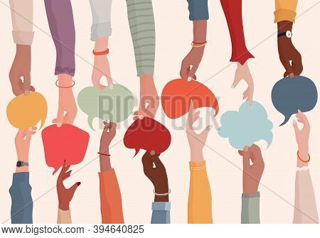 Agreement Or Affair Between A Group Of Colleagues Or Collaborators.diversity People Who Exchange Inf