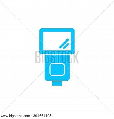 Flush Bulb Icon Flat. Blue Pictogram On White Background. Vector Illustration Symbol