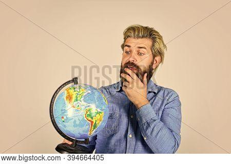 Earth Day. International Concept. Geography Teacher. International Business. Global Network. Worldwi