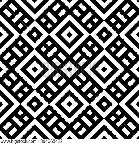 Tribe Motif. Ethnic Wallpaper. Ancient Mosaic. Ethnical Folk Image. Tribal Ornament. Embroidery Back
