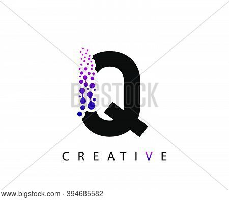 Abstract Q Letter , Molecules Q Technology Logo Design.