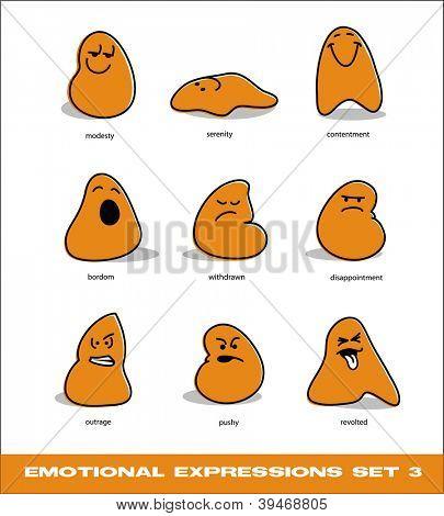 vector emotional expressions set 3