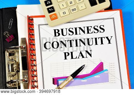 Business Continuity Plan. The Text Label In The Folder Office Of The Registrar And Chart The Effecti