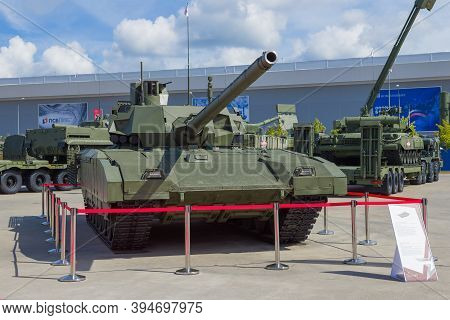 Moscow Region, Russia - August 25, 2020: Newest Russian Tank