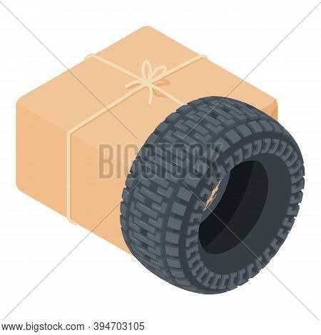 Automobile Tire Icon. Isometric Illustration Of Automobile Tire Vector Icon For Web