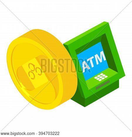 Omisego Cryptocurrency Icon. Isometric Illustration Of Omisego Cryptocurrency Vector Icon For Web