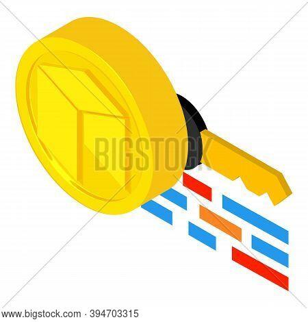 Neo Cryptocurrency Icon. Isometric Illustration Of Neo Cryptocurrency Vector Icon For Web