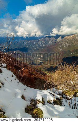 October Day In The Mountains Of Val Di Resia, In Friuli-venezia Giulia.