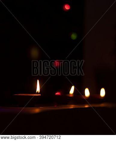 Indian Festival Diwali , Diwali Lamp Lit During Diwali