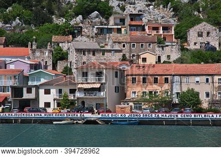 Adriatic Sea, Croatia - 02 May 2018: The Small Village On The Coast Of Adriatic Sea, Croatia