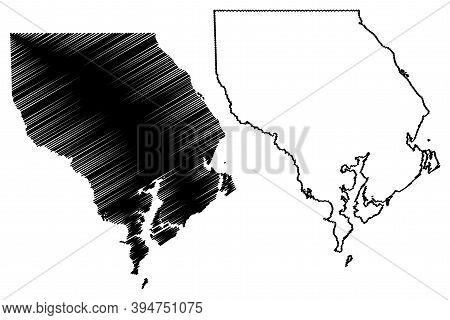Harford County, Maryland (u.s. County, United States Of America, Usa, U.s., Us) Map Vector Illustrat