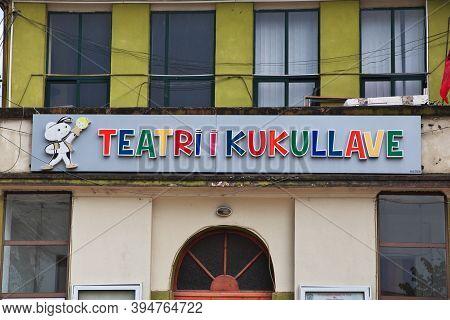 Tirana, Albania - 08 May 2018: Theatre In Tirana, Albania