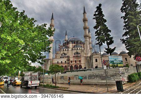 Tirana, Albania - 08 May 2018: The Mosque In Tirana, Albania
