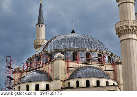 The Roof Of Vintage Mosque In Tirana, Albania
