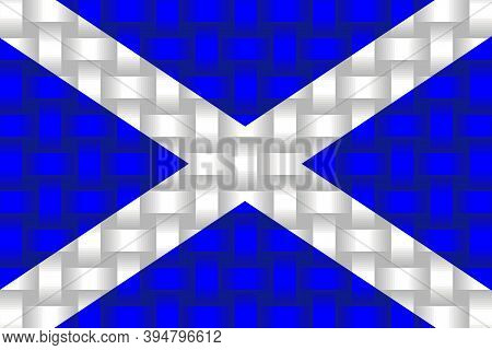 Scotland Flag Background - Illustration,  Three Dimensional Flag Of Scotland
