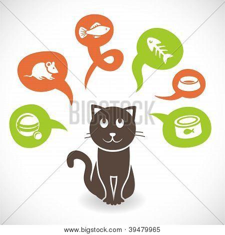 Vector Funny Cartoon Cat