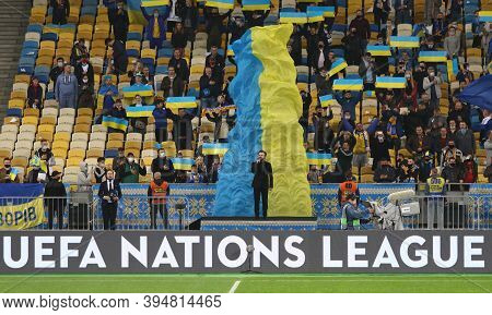 Kyiv, Ukraine - October 10, 2020: Ukrainian Singer Mykhailo Khoma (dzidzio) Performs The National An