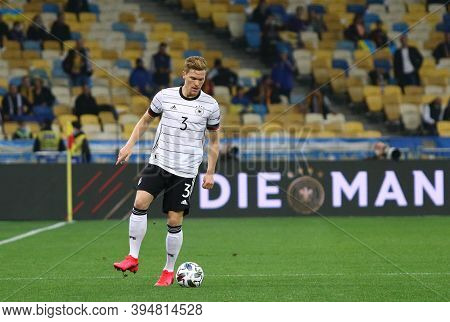 Kyiv, Ukraine - October 10, 2020: Defender Marcel Halstenberg Of Germany In Action During The Uefa N