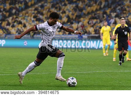 Kyiv, Ukraine - October 10, 2020: Midfielder Serge Gnabry Of Germany In Action During The Uefa Natio