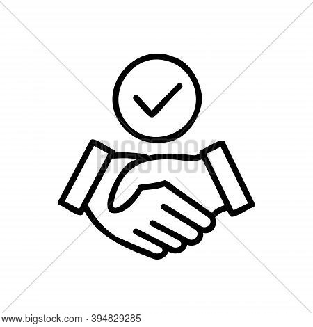 Shake Hands Icon Isolated On White Background From Business Marketing Collection. Shake Hands Icon T