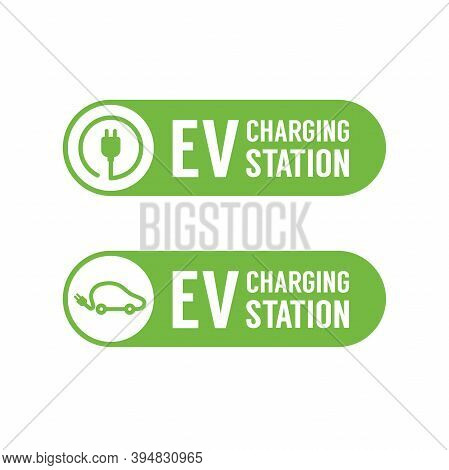 Ev Charging Station Banner. Electric Vehicle Charging Station, Electric Recharging Point.