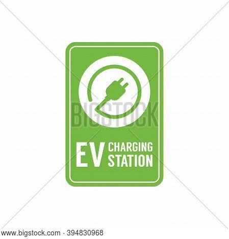Ev Charging Station Banner. Electric Vehicle Charging Station, Electric Recharging Point.