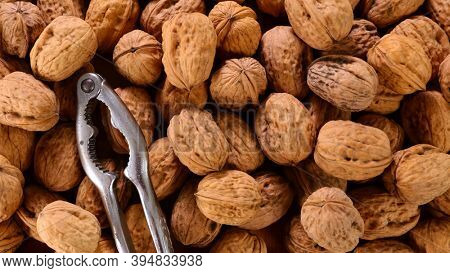 walnut and nutcracker- top view