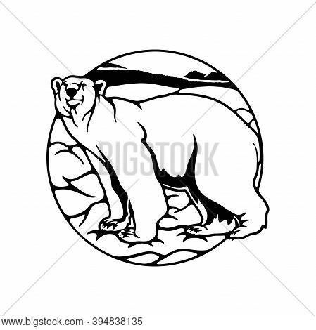Polar Bear, Polar Belt, Antarctica - Wildlife Stencils - Forest Silhouettes For Cricut, Wildlife Cli