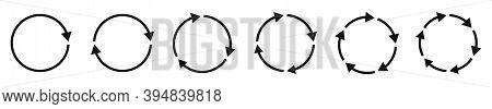 Arrow Icons Set. Circular Arrows. Circle Arrow. Vector Illustration. Refresh Or Reload Sign.