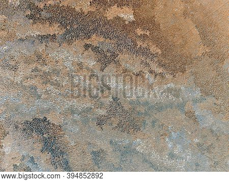 Abstract Grainy Brown, Gray And White Background. Chaotic Stains And Streaks, Similar To Chinese Pai