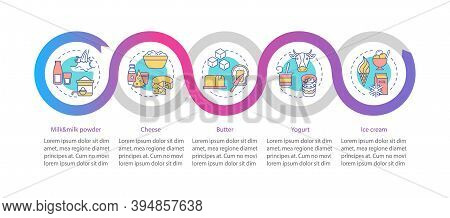 Milk Products Vector Infographic Template. Cheese Production. Dairy Industry Presentation Design Ele