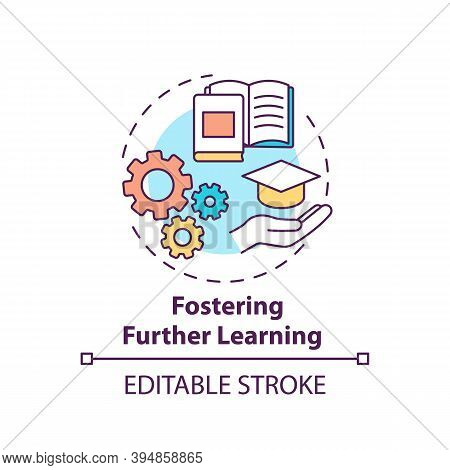 Fostering Further Learning Concept Icon. Business Consulting Stage Idea Thin Line Illustration. Cont