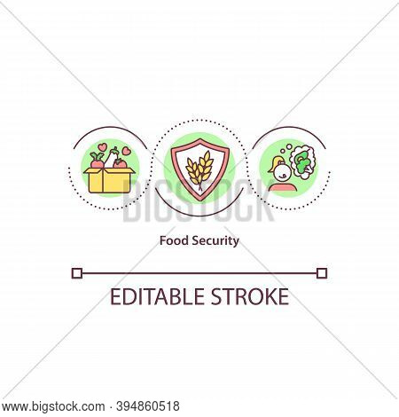 Food Security Concept Icon. Hunger And Malnutrition Protection. Affordability And Nutrition Idea Thi