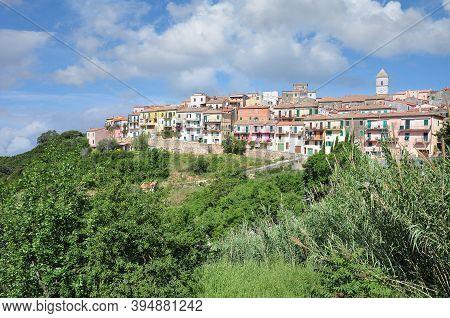 Village Of Capoliveri On Island Of Elba,tuscany,mediterranean Sea,italy
