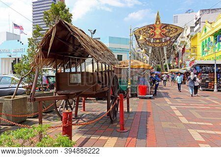 Kuala Lumpur, Malaysia - Mart 12, 2019: Kasturi Walking And Shopping Street In Kuala Lumpur, Malaysi
