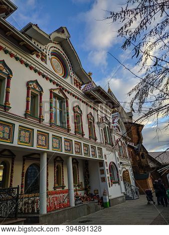 Moscow, Russia - December 1, 2019: Kremlin In Izmailovo Or Izmailovsky Kremlin. Izmailovsky Kremlin,