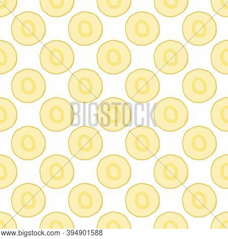 Illustration On Theme Of Pattern Plant Parsnip, Vegetable Root For Seal. Vegetable Pattern Consistin