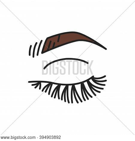 Eyelash Extensions Color Line Icon. Pictogram For Web Page, Mobile App, Promo.
