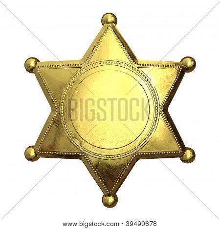 Golden Sheriff's Badge