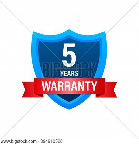5 Years Warranty. Support Service Icon. Vector Stock Illustration.