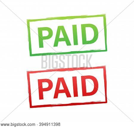 Vintage Paid, Great Design For Any Purposes. Vector Stock Illustration.