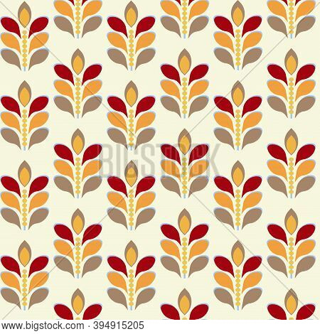 50s 60s 70s Retro Vintage Geometric Background, Seamless Vector Pattern