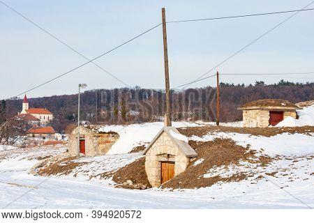wine cellars, Velka Trna, Slovakia